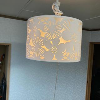 天井照明 花柄傘 ホワイト 電球タイプ