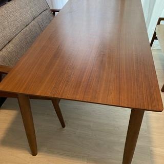【ネット決済・配送可】木製ダイニングテーブル