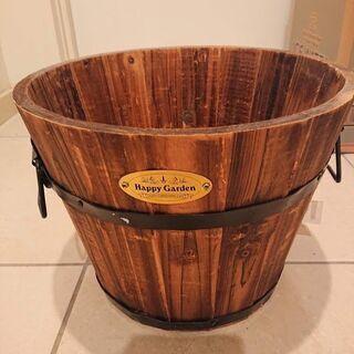 焼杉の樽型木製コンテナ~未使用