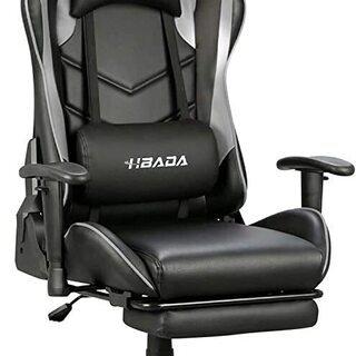 ゲーミングチェア オフィスチェア オフィス 椅子 オットマン付き...