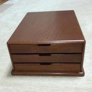 【ネット決済】中古の木製レターケース3段