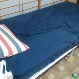 【ネット決済】シングルベッド フレーム マットレス