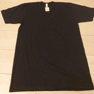 半袖Tシャツ 黒無地 Vネック メンズ Sサイズ