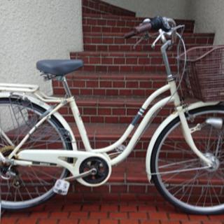 【ネット決済・配送可】【中古自転車】26インチ6段変速 LEDオ...