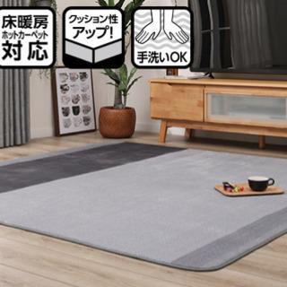 【ネット決済・配送可】ニトリ カーペット 絨毯 ラグ Nライフo...