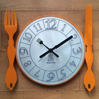 掛け時計(オレンジ)