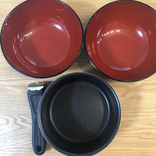 どんぶり×2  鍋×1