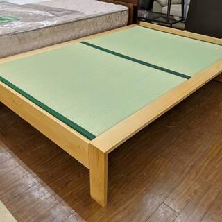 大川家具 畳ベッド 檜 セミダブル