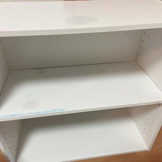 二段ボックス 汚れ、シミあり