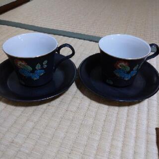 九谷焼 カップ&ソーサー セット 2組 未使用品