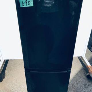 ②690番 三菱✨ノンフロン冷凍冷蔵庫✨MR-P15Y-B…