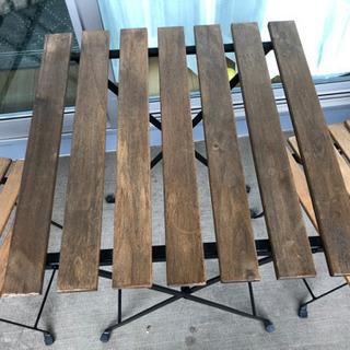 IKEA テルノーガーデンテーブル+チェア2脚 - 家具