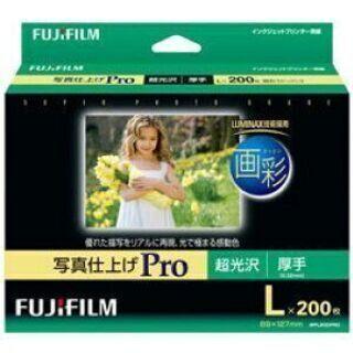 FUJIFILM 写真用紙 画彩 超光沢 厚手 L 200…