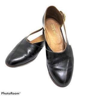 レディース 革靴 黒 ローヒール レザーシューズ 歩きやす…
