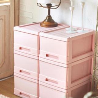 ピンクの収納ケース