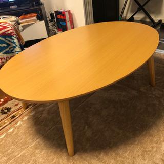楕円型 テーブル こたつ