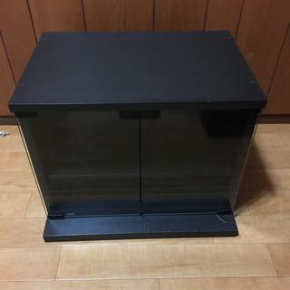 テレビ台 黒 ガラス 観音扉