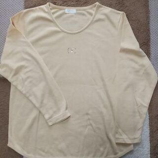 長袖Tシャツ 橙色 美品