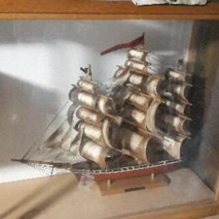 帆船 模型 ディスプレイケース付き