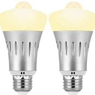 F95 LED電球 人感センサー E26口金 センサーライ…