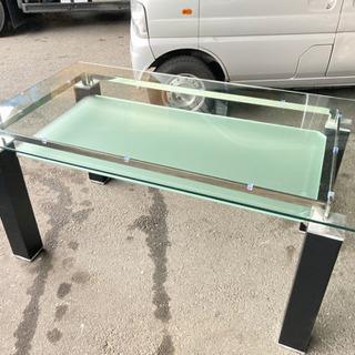 【直接引取・個人配達限定】ガラステーブル