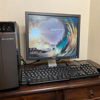 すぐに使える♪デスクトップパソコン一式 パソコン本体、ディ…