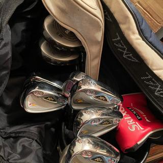 【ゴルフセット一式!?】キャリーケースからゴルフクラブ10…