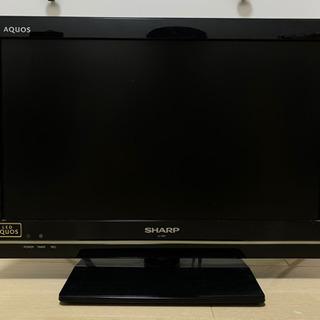 テレビ(19型 SHARP 2012年製)