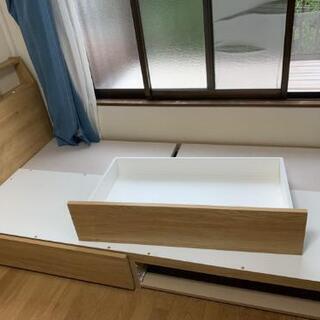 【定価34900円】収納付きシングルベッド