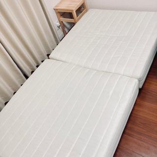 【お譲りします】分割式 脚付きマットレスベッド シングルサ…