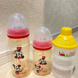 ピジョン ミッキーミニー哺乳瓶セット 506070