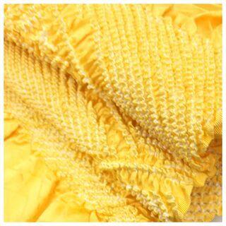 【ネット決済・配送可】 美品 正絹 帯揚げ 部分絞り 黄色 差し...
