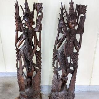 バリ雑貨 女神像 木彫り雑貨