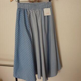 新品未使用 裾かわいい ストライプスカート Mサイズ