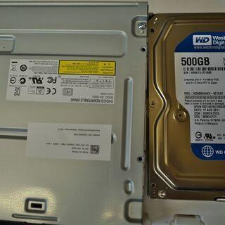 内蔵型DVDドライブ 内蔵型HDD(500GB)