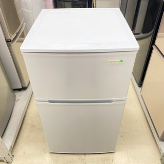 '18 YAMADA 2ドア冷蔵庫 ホワイト 90L YR…