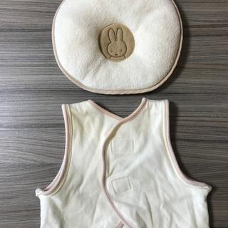 ミッフィのドーナツ枕と新生児ベスト