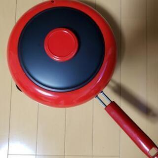 揚げ物用フライパン(温度計付き)