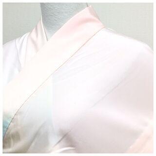 【ネット決済・配送可】極上 長襦袢 単衣仕立て 薄いピンク 淡色...