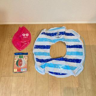 浮き輪とビーチボール