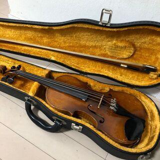 古いバイオリン 1/2 バイオリン メーカー不詳 弓 SU…