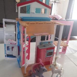 Barbie バービー人形 ハウス ドールハウス マイリト…