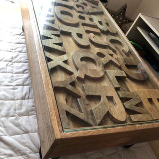 【ネット決済】無垢テーブル ABCローテーブル センターテーブル...