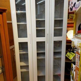 キャビネット 食器棚 カップボード ホワイト 収納 戸棚 棚板調...