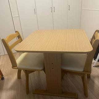 2人掛 ダイニングテーブルセット ニトリ(GK 70 LBR)