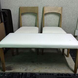 ikususu ダイニングチェア 2脚 ベンチシート セット 椅子