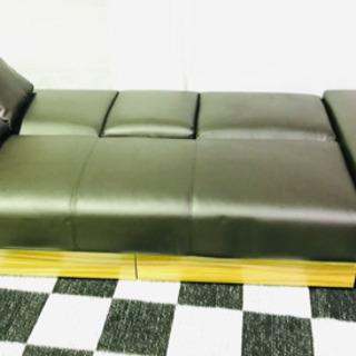 未使用✨アウトレット商品✨3人掛け✨レザー✨ソファー✨ソファーベッド✨3段階リクライニング✨引き出し付き✨ほぼ新品😍 - 家具