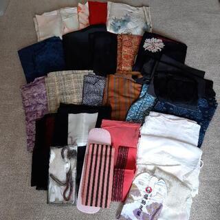 着物・小物などまとめ売り リメイク素材やハギレ利用に