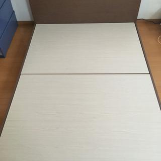 ダブルベッド(枠と天板のみ)