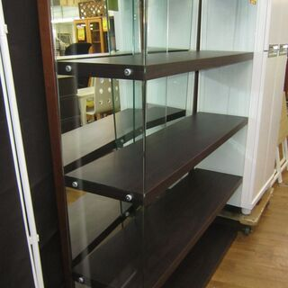 R007 ディスプレイラック グラスシェルフ 強化ガラス 幅120cm 美品 - 名古屋市